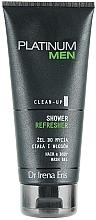 Düfte, Parfümerie und Kosmetik Erfrischendes Duschgel für Körper und Haar - Dr Irena Eris Platinum Men Shower Refresher Hair Body Wash Gel