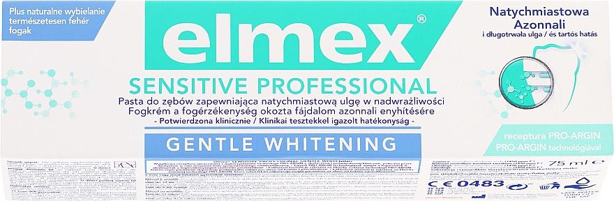 Aufhellende Zahnpasta mit Aminfluorid für empfindliche Zähne - Elmex Professional Sensitive Professional Gentle Whitening — Bild N1