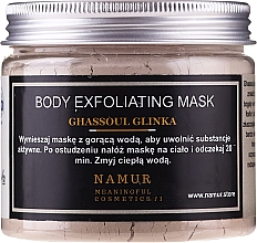 Düfte, Parfümerie und Kosmetik Exfolierende Körpermaske mit Rhassoul-Tonerde - Namur Body Exfoliating Ghassoul Clay