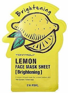 Tuchmaske mit Zitrone - Tony Moly I'm Real Lemon Mask Sheet