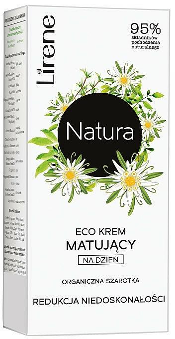 Mattierende Tagescreme zur Regulierung von Unvollkommenheiten mit Edelweiß - Lirene Natura Eco Cream