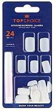 Düfte, Parfümerie und Kosmetik Künstliche Fingernägel inkl. Kleber 7514 - Top Choice