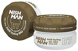 Düfte, Parfümerie und Kosmetik Haarstyling-Gel B7 - Nishman Hair Styling Gel Wax B7 Gold One