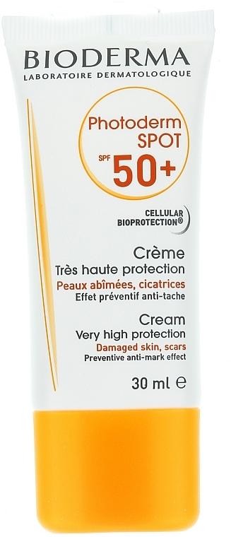 Sonnenschutzcreme für das Gesicht gegen braune und Pigmentflecken SPF 50+ - Bioderma Photoderm Spot SPF 50+ Sun Cream — Bild N2