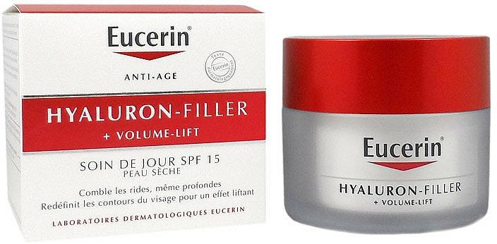 Tagescreme für trockene Haut SPF 15 - Eucerin Hyaluron-Filler+Volume-Lift Day Cream SPF15