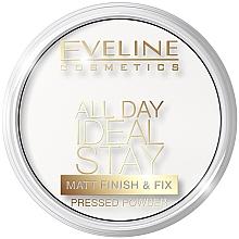 Düfte, Parfümerie und Kosmetik Mattierender gepresster Puder - Eveline Cosmetics All Day Ideal Stay Matt Finish & Fix White-60