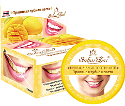Düfte, Parfümerie und Kosmetik Fluoridfreie natürliche und aufhellende Zahnpasta mit Mangoextrakt - Sabai Thai Herbal Mango Toothpaste