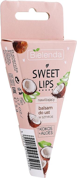 Feuchtigkeitsspendender Lippenbalsam mit Kokosnuss und Aloe - Bielenda Sweet Lips Moisturizing Lip Balm — Bild N2