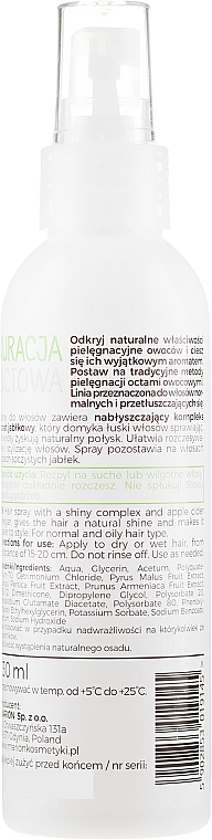Nährendes Spray für fettiges und normales Haar mit Apfelessig - Marion Apple Vinegar Hair Spray — Bild N2