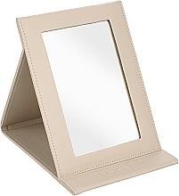 Düfte, Parfümerie und Kosmetik Klappbarer kosmetischer Taschenspiegel beige - MakeUp Tabletop Cosmetic Mirror Beige