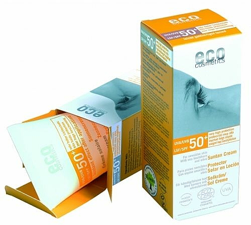 Sonnenschutzcreme mit Granatapfel- und Sanddorn-Extrakt SPF 50+ - Eco Cosmetics Suntan Cream SPF 50+