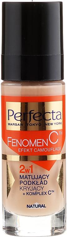 Mattierende Foundation mit Vitamin C 2in1 - Perfecta Make-Up Fenomen C