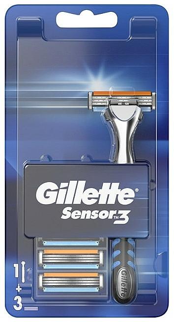 Rasierer mit 3 Ersatzklingen - Gillette Sensor 3