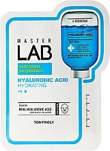 Düfte, Parfümerie und Kosmetik Feuchtigkeitsspendende Tuchmaske für das Gesicht mit Hyaluronsäure - Tony Moly Master Lab Hyaluronic Acid Mask