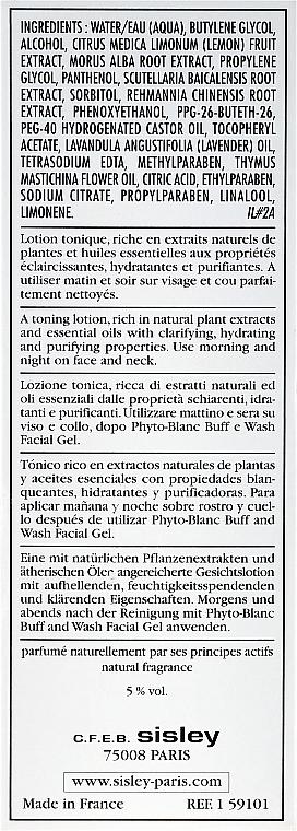 Gesichtslotion für Make-up-Entfernung mit Pflanzenextrakten - Sisley Phyto-Blanc Lightening Toning Lotion — Bild N3