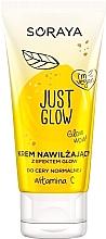 Düfte, Parfümerie und Kosmetik Feuchtigkeitsspendende schimmernde Gesichtscreme mit Vitamin C - Soraya Just Glow