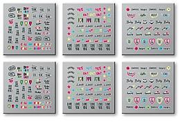 Düfte, Parfümerie und Kosmetik Dekorative Nagelsticker 6 St. 42300 - Top Choice Words Neon