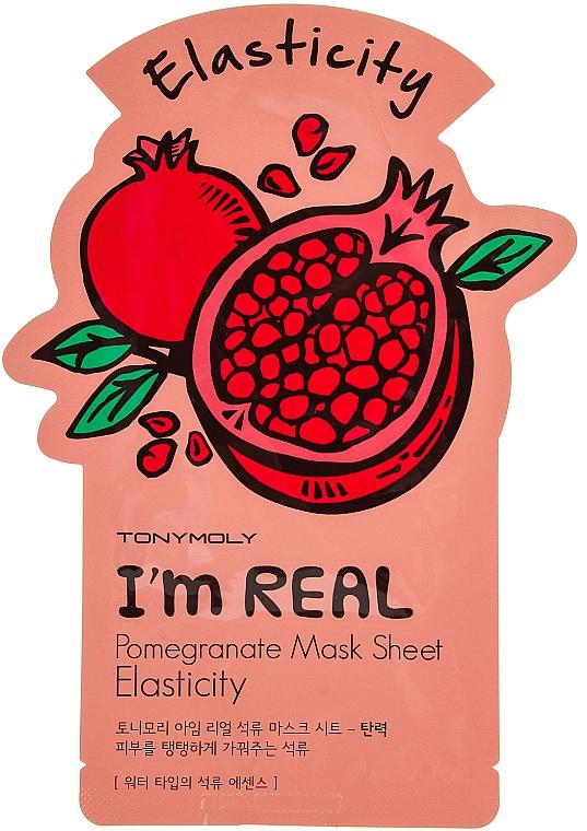 Tuchmaske mit Granatapfel für mehr Elastizität - Tony Moly I'm Real Pomegranate Mask Sheet