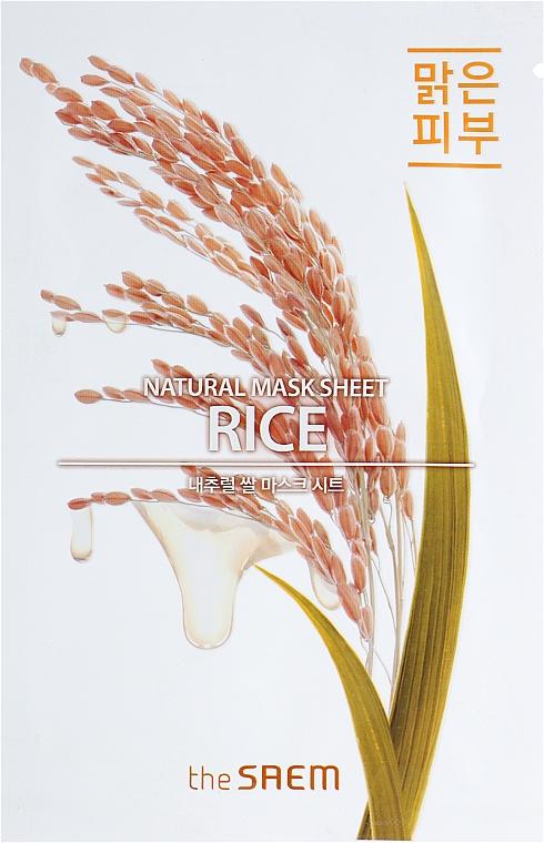Tuchmaske für das Gesicht mit Reis - The Saem Natural Mask Sheet Rice — Bild N1