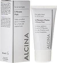 Düfte, Parfümerie und Kosmetik Gesichtsmaske für sichtbar glattere Haut in 5 Minuten - Alcina B 5 Minute Mask