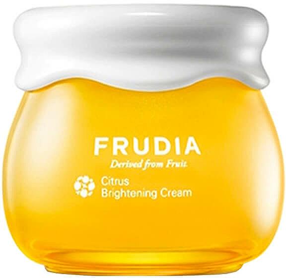 Aufhellende Gesichtscreme mit Mandarinenschalenextrakt und Vitamin C - Frudia Brightening Citrus Cream