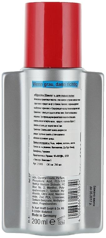 Farbauffrischendes Shampoo für blondes und graues Haar - Alpecin Power Grau Shampoo  — Bild N2