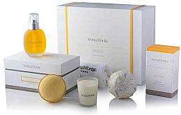 Düfte, Parfümerie und Kosmetik Badeset - AromaWorks Serenity Body Indulgence Gift Set (Badebombe 2x250g + Duftkerze 75g + Badeöl100ml + Flanell)