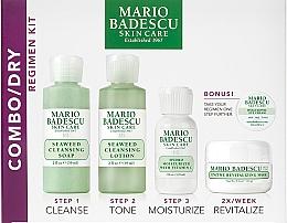 Düfte, Parfümerie und Kosmetik Gesichtspflegeset - Mario Badescu Combo Dry Regimen Kit (Reinigungsgel 59ml + Gesichtslotion 59ml + Gesichtscreme 29ml + Gesichtsmaske 14g + Augencreme 3g)