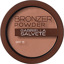 Düfte, Parfümerie und Kosmetik Bronzing-Puder mit Hyaluronsäure und LSF 15 - Gabriella Salvete Bronzer Powder SPF 15