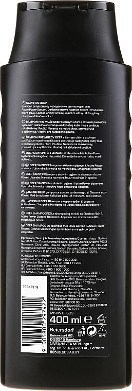 Revitalisierendes Shampoo für Männer mit Elektrolyten und Aktivkohle - Nivea Men Deep Revitalizing Shampoo — Bild N2
