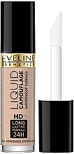 Düfte, Parfümerie und Kosmetik Langanhaltender Concealer - Eveline Cosmetics Liquid Camouflage HD Long Lasting Formula 24h