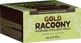 Düfte, Parfümerie und Kosmetik Hydrogel-Patches für Augen und Gesicht mit Gold - Secret Key Gold Racoony Hydrogel Eye Spot Patch