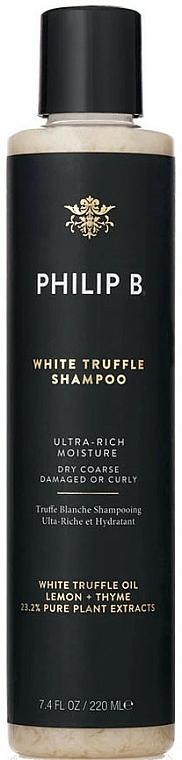 Feuchtigkeitsspendendes Shampoo mit Extrakt aus weißem Trüffel - Philip B White Truffle Shampoo — Bild N1