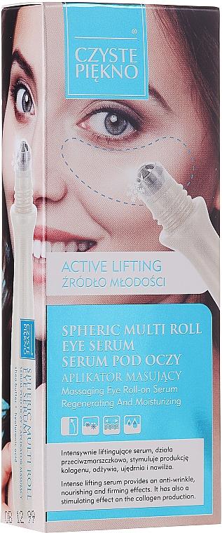 Roll-On Augenserum mit Lifting-Effekt - Czyste Piekno Active Lifting Eye Serum Cream Massaging Roll On — Bild N2