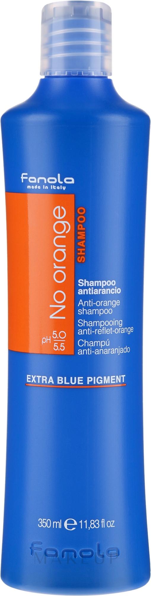 Farbneutralisierendes Shampoo für dunkel gefärbtes Haar - Fanola No Orange Extra Blue Pigment Shampoo — Bild 350 ml