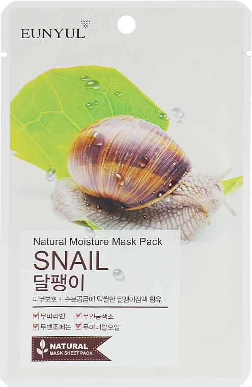Tuchmaske für das Gesicht mit Schneckenmucin - Eunyul Natural Moisture Mask Pack
