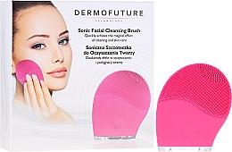 Düfte, Parfümerie und Kosmetik Elektrische Gesichtsreinigungsbürste aus Silikon rosa - Dermofuture