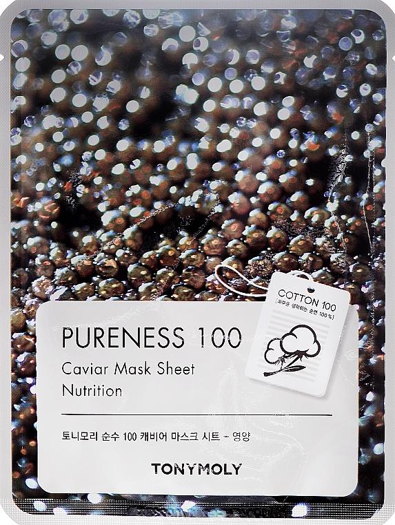 Tuchmaske mit schwarzem Kaviar-Extrakt - Tony Moly Pureness 100 Caviar Mask Sheet