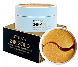 Düfte, Parfümerie und Kosmetik Hydrogel-Augenpatches mit 24K Gold - Lebelage 24K Gold Ampoule Hydrogel Eye Patch