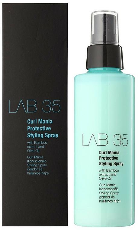 Lockendefinierendes Haarspray mit Bambusextrakt und Olivenöl - Kallos Cosmetics Lab 35 Curl Spray