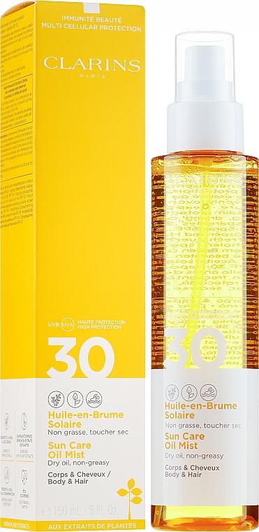 Sonnenschutzspray für Körper und Haare LSF 30 - Clarins Huile-en-Brume Solaire SPF 30