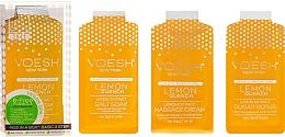 Düfte, Parfümerie und Kosmetik Pediküre-Set mit Zitrone - Voesh Pedi In A Box 3 In 1 Deluxe Pedicure Lemon Quench (35 g)