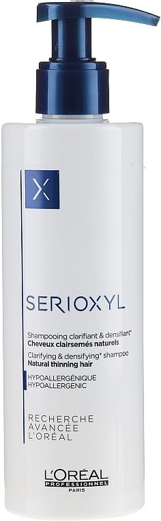 Reinigendes Shampoo für dünner werdendes Haar - L'Oreal Professionnel Serioxyl Clarifying Shampoo Natural, Noticeably Thinning Hair