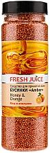 Düfte, Parfümerie und Kosmetik Badeperlen mit Honig und Orange - Fresh Juice Bath Bijou Amber Honey and Orange