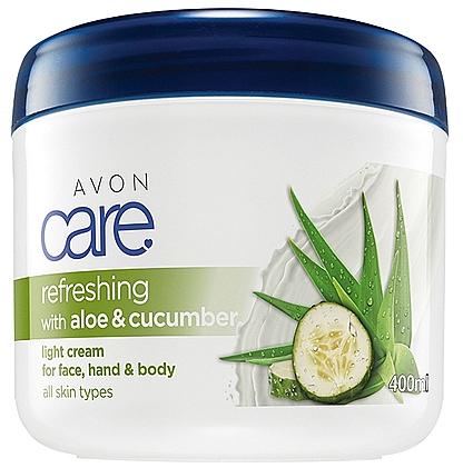 Erfrischende Creme für Gesicht, Hände und Körper mit Aloe und Gurke - Avon Refreshing With Aloe And Cucumber Light Cream For Face Hand And Body
