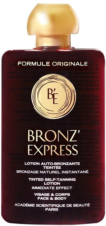 Selbstbräunungslotion für Gesicht und Körper - Academie Bronz'Express Lotion