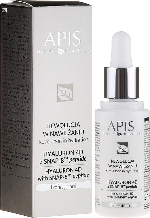 Feuchtigkeitsspendendes Gesichtsserum - APIS Professional Hyaluron 4D + Snap-8 Peptide