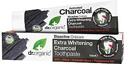 Düfte, Parfümerie und Kosmetik Aufhellende Zahnpaste mit Aktivkohle - Dr. Organic Extra Whitening Charcoal Toothpaste