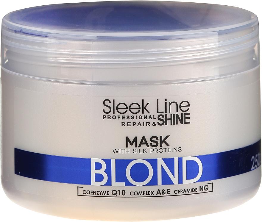 Reparatur- und Glanzmaske für blondes, graues und gebleichtes Haar - Stapiz Sleek Line Repair & Shine Blond Mask
