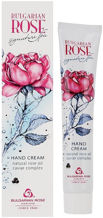 Handcreme mit natürlichem Rosenöl, Rosenwasser und schwarzem Kaviar-Extrakt - Bulgarian Rose Caviar Complex Hand Cream
